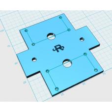 Пластиковая база  и металлические крепления моторов для четырехмоторного робота сумо