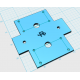 Plastic base for 4-motors robot sumo
